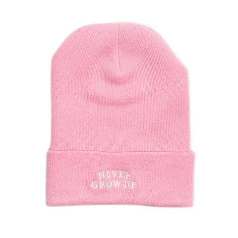 Never Grow Up Beanie - Pixie Pink