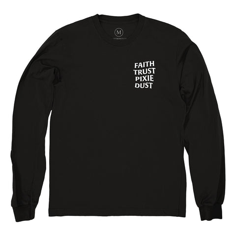 Faith Trust Pixie Dust L/S Tee - Black