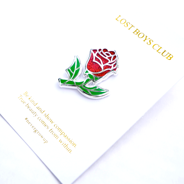 Glass Rose Pin