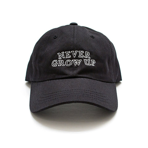 Never Grow Up Hat - Shadow Black