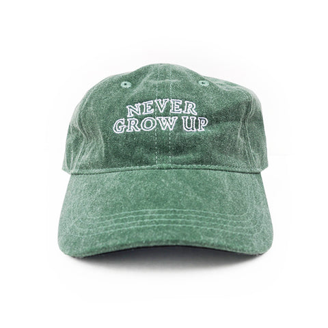 Never Grow Up Hat - Treehouse Green