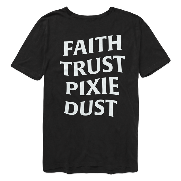 Faith Trust Pixie Dust Tee - Black