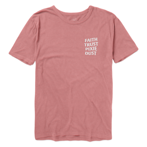 Faith Trust Pixie Dust Tee - Burnt Rose