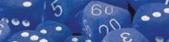 Chessex Dice - Frosted Polyhedral Blue with White numbers