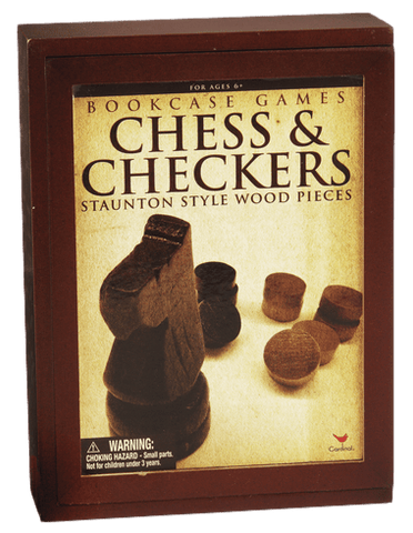 Chess & Checkers Bookcase Game
