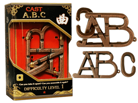 Hanayama Cast Metal Puzzle Level 1 ABC