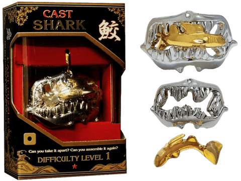 Hanayama Cast Metal Puzzle Level 1 Shark Jaws