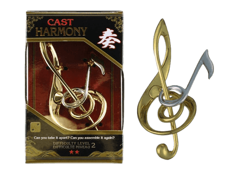 Hanayama Cast Metal Puzzle Level  2 Harmony Treble Clef & Note