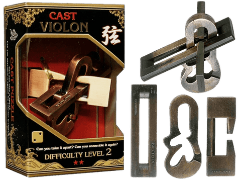 Hanayama Cast Metal Puzzle Level 2 Violin