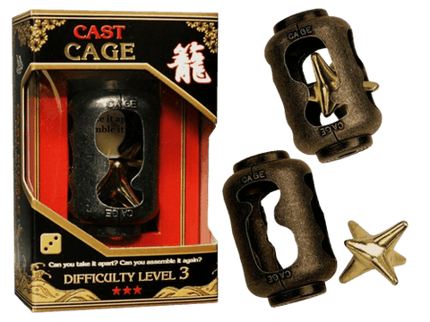 Hanayama Cast Metal Puzzle Level 3 Cage