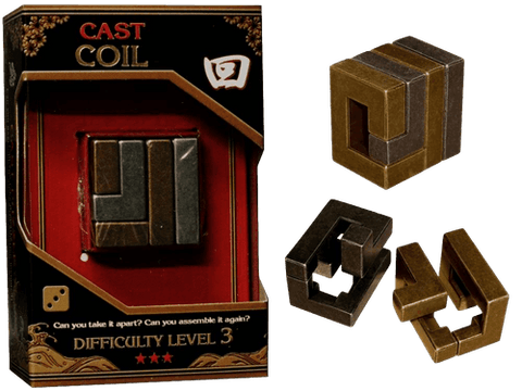 Hanayama Cast Metal Puzzle Level 3 Coil