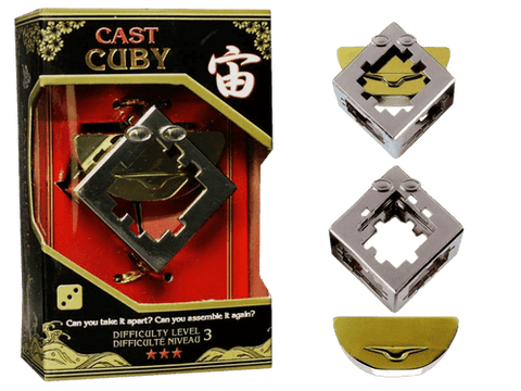 Hanayama Cast Metal Puzzle Level 3 Cuby