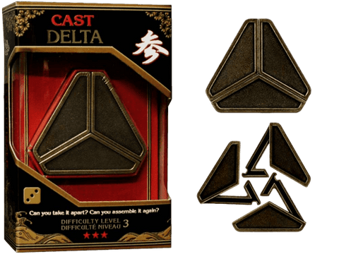 Hanayama Cast Metal Puzzle Level 3 Delta