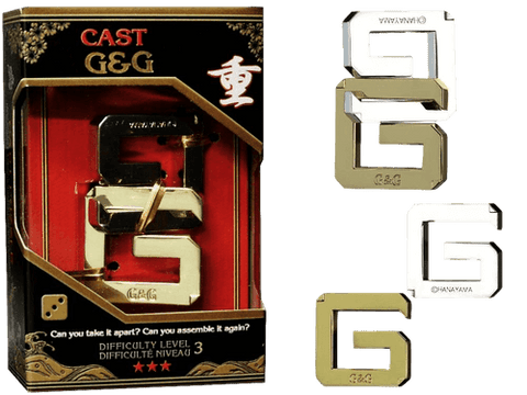 Hanayama Cast Metal Puzzle Level 3 G&G