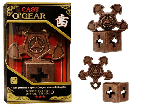 Hanayama Cast Metal Puzzle Level 3 O'Gear