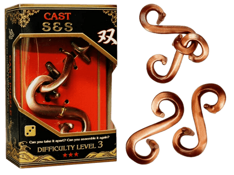 Hanayama Cast Metal Puzzle Level 3 S&S