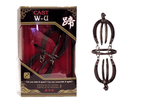 Hanayama Cast Metal Puzzle Level 3 W&U