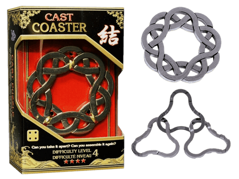 Hanayama Cast Metal Puzzle Level 4 Coaster
