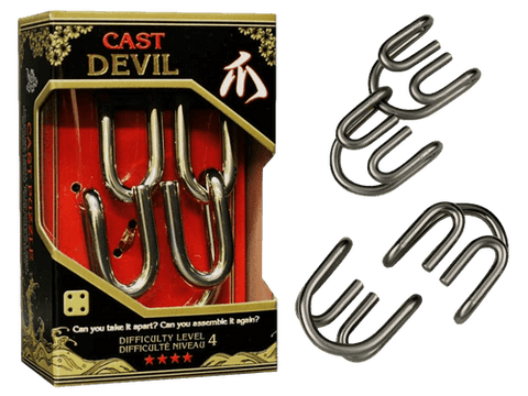 Hanayama Cast Metal Puzzle Level 4 Devil