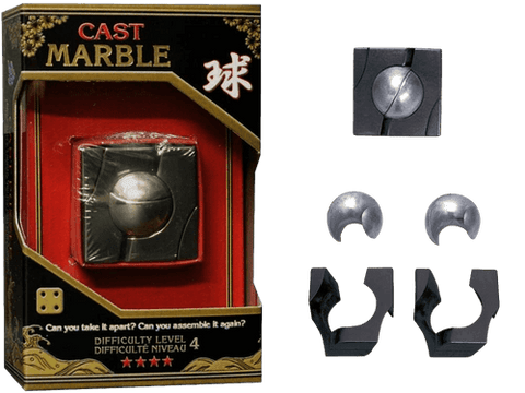 Hanayama Cast Metal Puzzle Level 4 Marble
