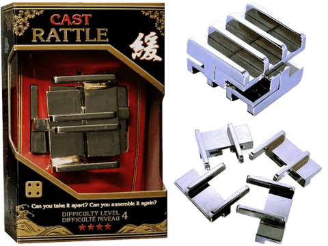 Hanayama Cast Metal Puzzle Level 4 Rattle