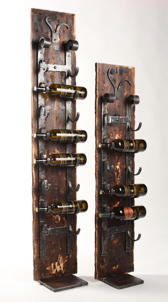 Floor Standing 'Old World'  Wine Racks ~ 5' - Forged on Iron