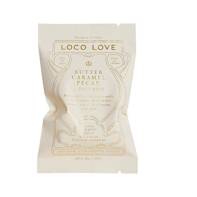 Loco Love Chocolate Butter Caramel Pecan with Tonic Herbs 25g Single