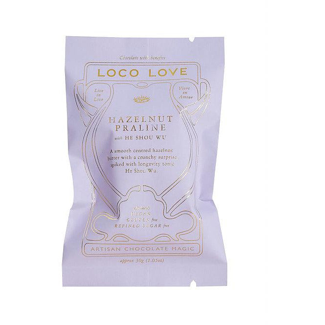 Loco Love Chocolate Hazelnut Praline with He Shou Wu 25g Single