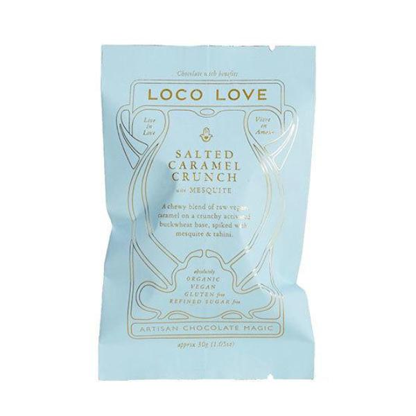 Loco Love Chocolate Salted Caramel Crunch with Mesquite 25g Single