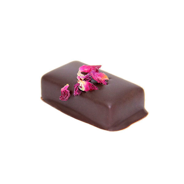 Loco Love Chocolate Wild Rose Ganache Pearl Goji Opened 25g