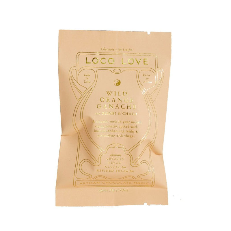 Loco Love Chocolate Wild Orange with Reishi & Chaga 25g Single