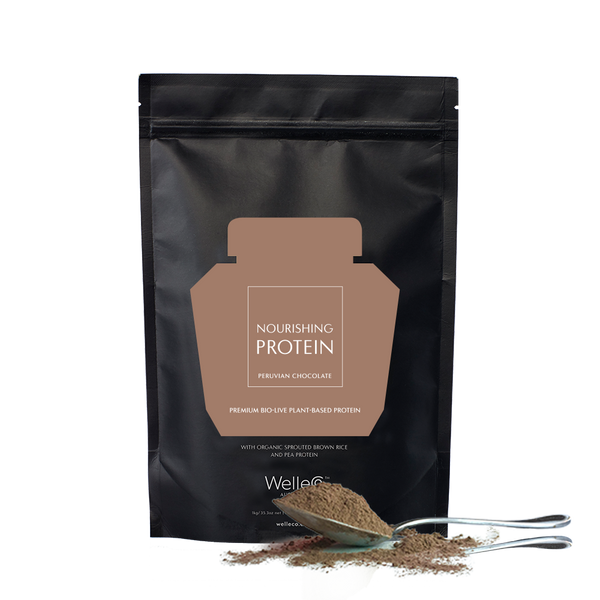 WelleCo Nourishing Plant Protein 300g Refill Chocolate