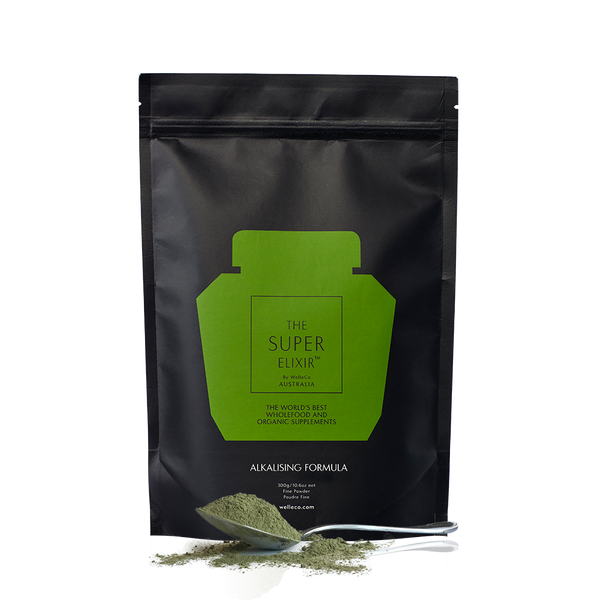 WelleCo Super Elixir Greens Pouch Refill 300g