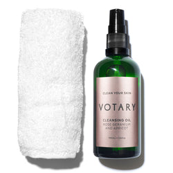 votary cleansing oil rose geranium apricot 100ml