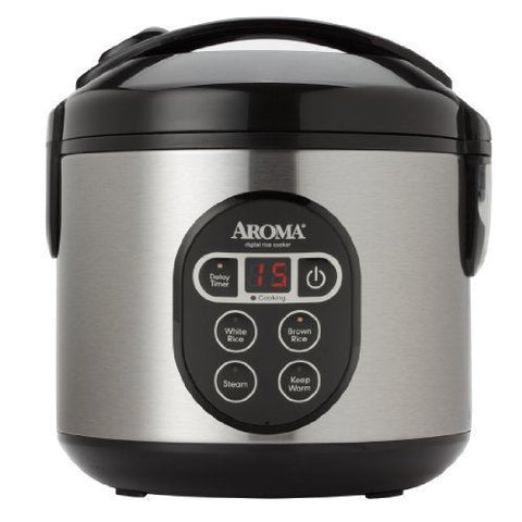 Stainless Steel Digital Rice Cooker and Food Steamer by Aroma - KitchenRave - 1