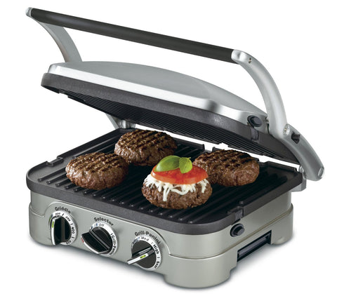 Stainless Steel Panini Press and Griller, 5 in 1 Features - Free Shipping - KitchenRave - 1