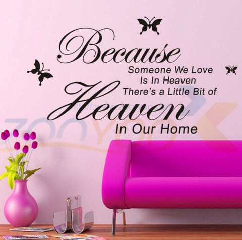 Because Someone is in Heaven Kitchen Wall Decal - KitchenRave - 1