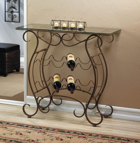 Vineyard Wine Rack Table for Kitchen or Home - KitchenRave - 1