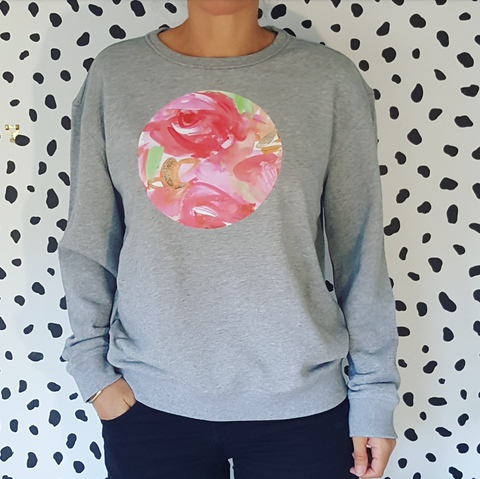 Bloom'n Lovely Sweatshirt- grey
