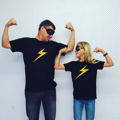Lightning Bolt adults T Black