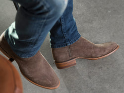19936e02eb2 Men's Waterproof Suede Roper Boots - Cowboy Western Boot | The Shane