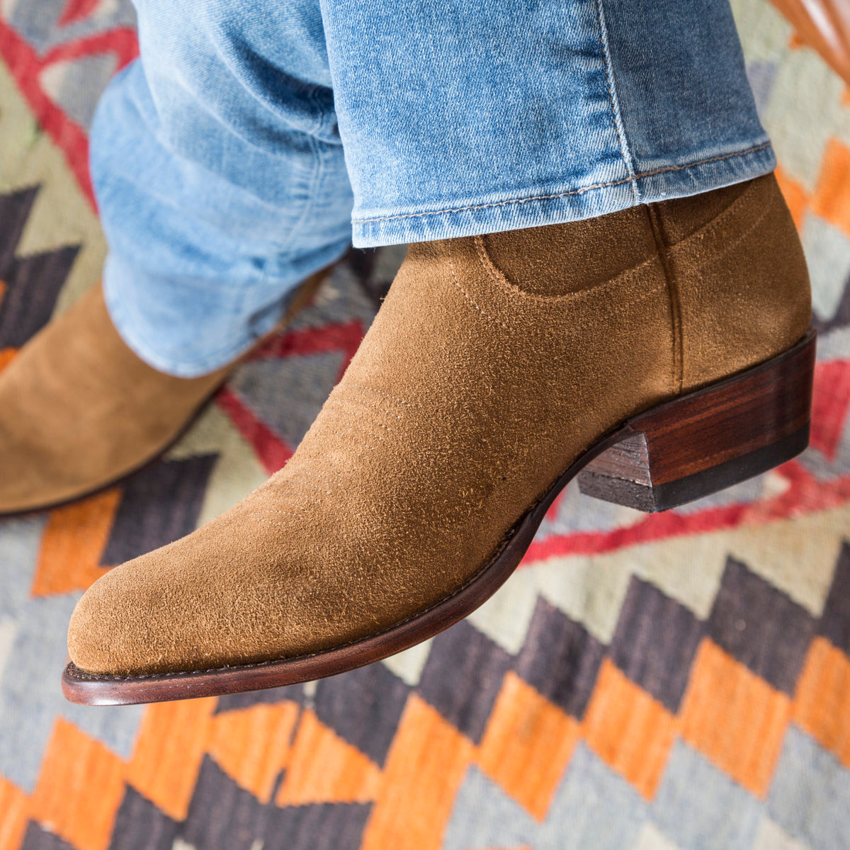 The Johnny A Handmade Waterproof Suede Cowboy Boot