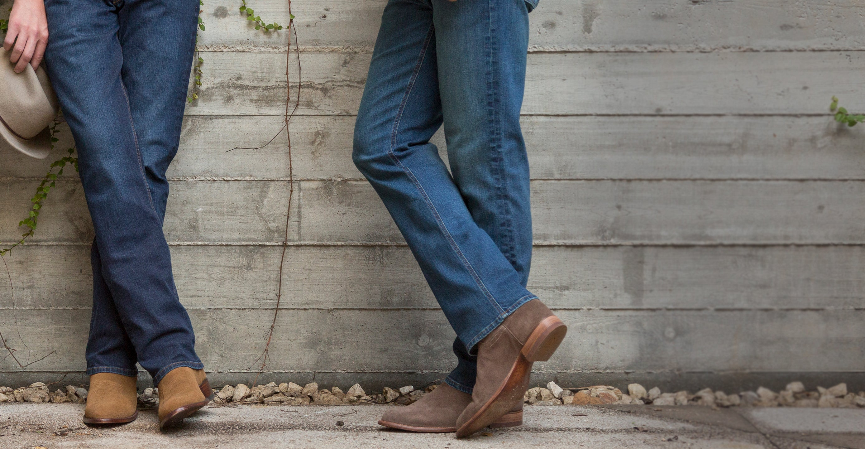 Man in comfortable jeans