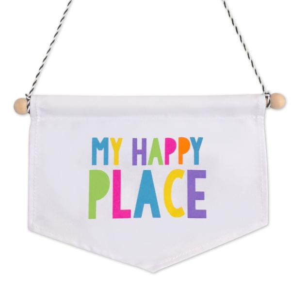 My Happy Place Canvas Banner