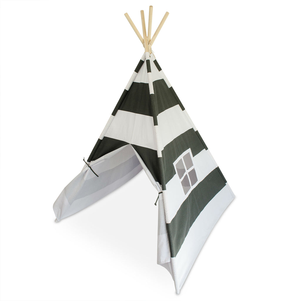 Deluxe Kids Teepee Tent - Gray u0026 White  sc 1 st  Tiny Hideaways & Deluxe Kids Teepee Tent - Gray u0026 White u2013 Tiny Hideaways