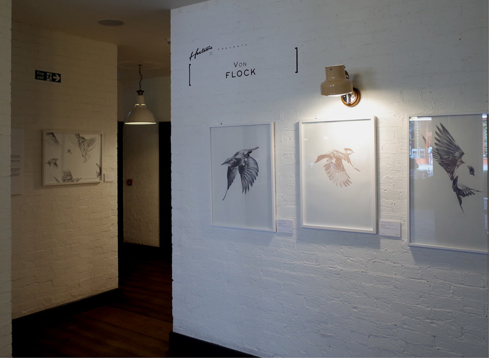 'Flock' by Von at Hoxton Holborn, London. HelloVon. ShopVon