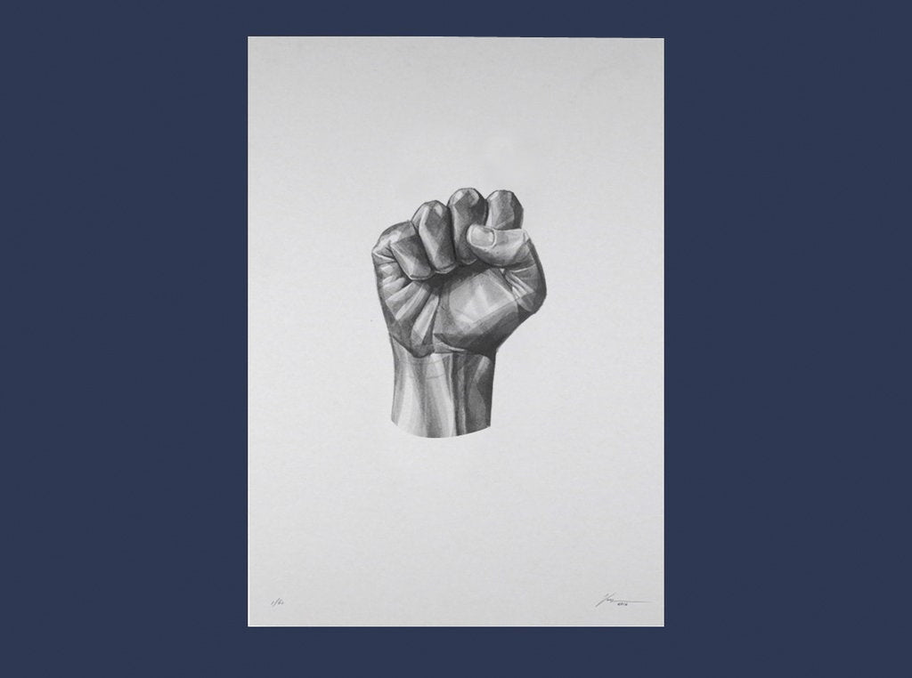 Gestures 07 (Power) by London based artist Von. ShopVon. HelloVon.