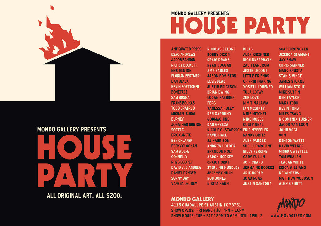 London artist Von exhibiting new work in 'House Party' with Mondo Gallery at SXSW