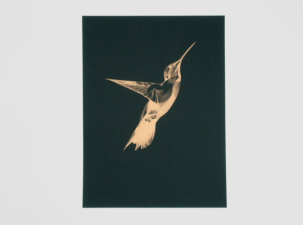 Flight 08 — Copper on Black | Artist Proof (  ) screen prints and original art by London artist Von — www.shopvon.com