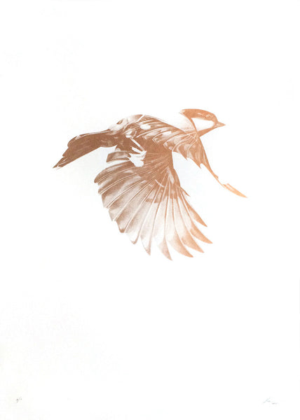 'Flight 02' large Copper Screen Print | Artist Proof   ( Screen Print ) by London based artist Von  — ShopVon |  HelloVon - 1